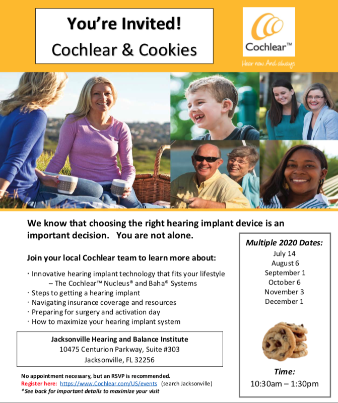 Cochlear & Cookies Flyer